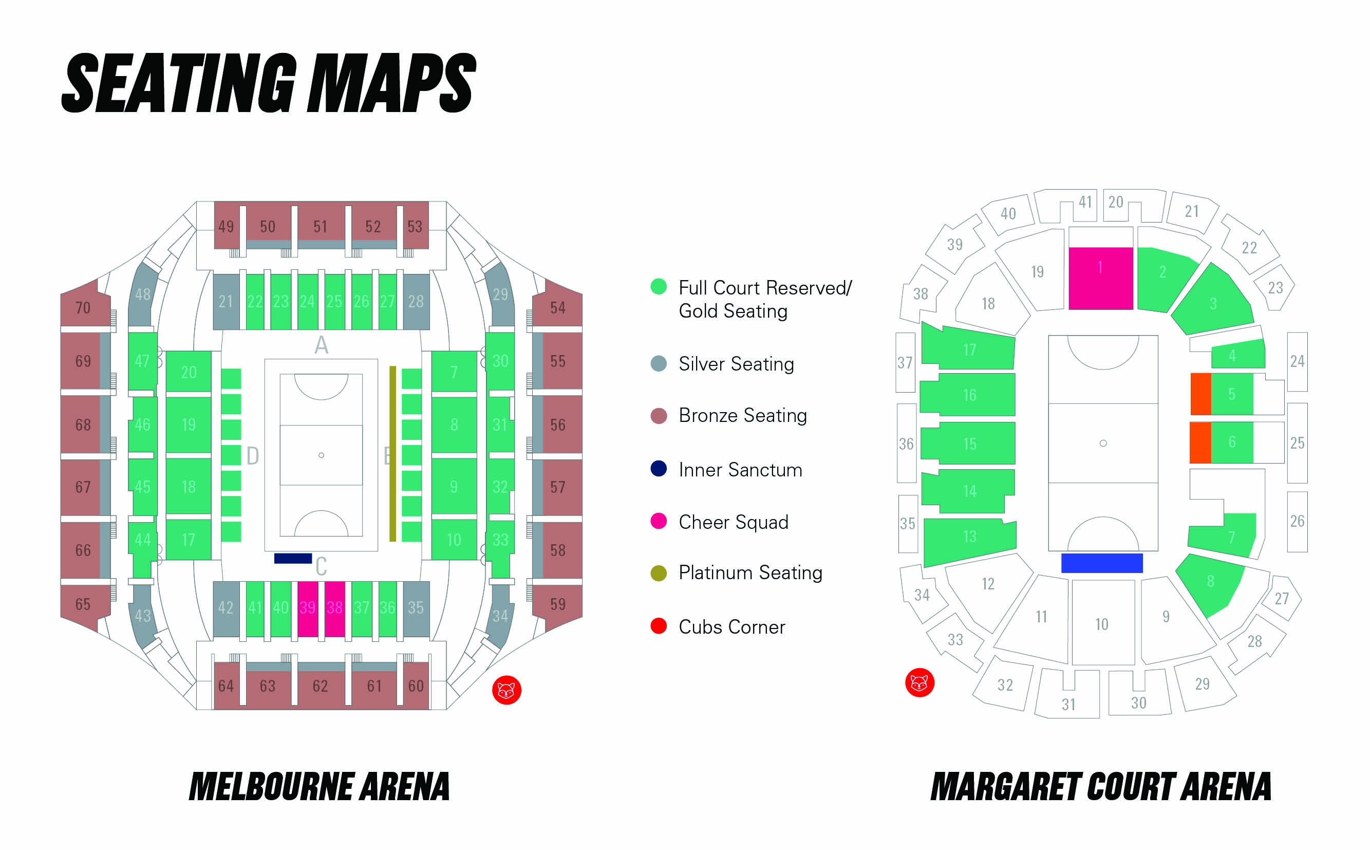 Seating Maps Melbourne Vixens